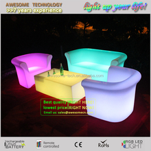 2016 new arrival lighted led lounge furniture, club sofa set