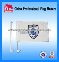 White plastic car window flag poles advertising car flag No MOQ