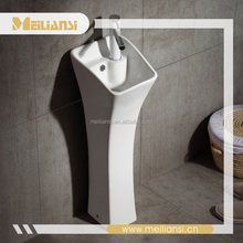 2017 Hot selling ceramic pedestal basin ,wash basin price in banglades