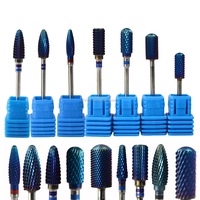 "1pcs 9 styles New Blue Designs Tungsten Carbide 3/32"" Burrs Nail Art Bit Electric Manicure Machine Drill Polishing Tools TR308"