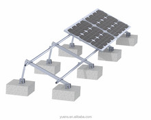 Solar Pv System Roof Panel Mounting Bracket Adjustable Aluminium Structure