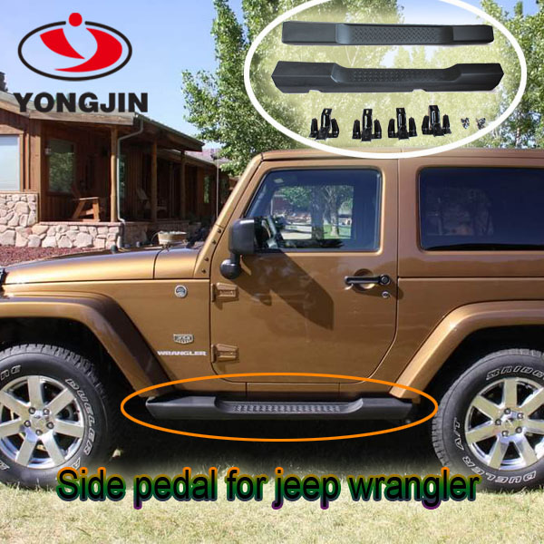 Car accessories black abs side step for jeep wrangler