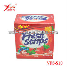 Fruity Flavour Candy Dissolving Fresh Mouth Breath Strips
