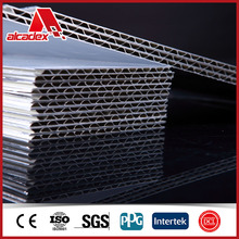 3D corrugated lattice aluminum composite panel wall cladding