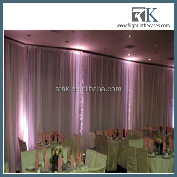 China Traditional wedding tent pipe drape for sale curtains and drapes