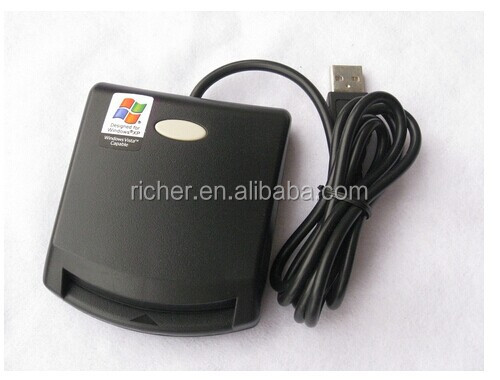 ISO 7816-1/2/3, PC/SC, CE, FCC, Microsoft WHQL, EMV certified Contact IC Chip Card Reader
