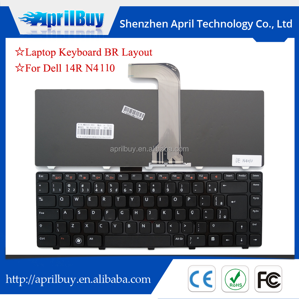 laptop internal keyboard for dell N4110 brazil/US layout