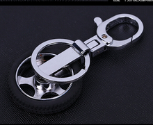 Wholesale tyre design keyring, hub mould key ring, wheel shape keychains
