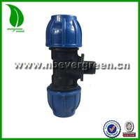 PN10 LOW PRESSURE PP PE COMPRESSION MALE THREAD 3 WAY FITTING