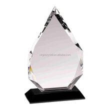 China crystal manufacturer crystal blank diamond shape trophy for promotion