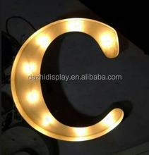 festival Christmas and wedding party decoration marquee LED light letter Illuminated love letters,indoor advertising signboard