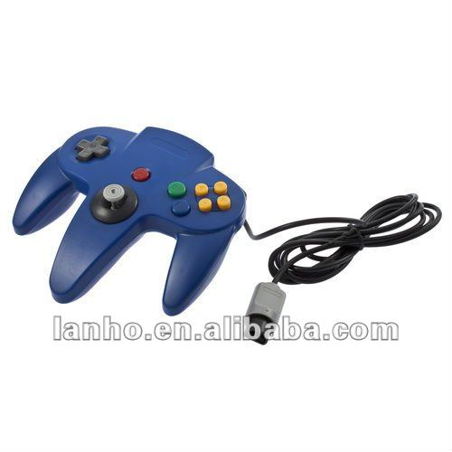 New Gamepad Game Controller Joystick for Nintendo 64 N64 System Blue