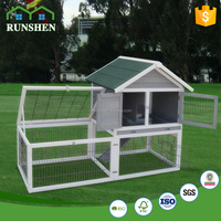 Fashion Design Rabbit Cages Wooden Rabbit Hutch With Wire Construction