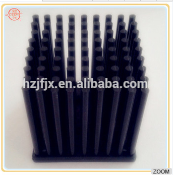 Square black Aluminum Extruded CPU Heatsink