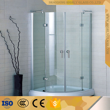Curved Glass Shower Screen for Bathroom