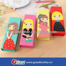 Beautiful customized little girls gift paper box/pen or pencils gift packaging box