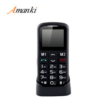 On Sale ! CE SOS Keys Single Sim Card Mobile Phone Big Keys Button Cell Phone 1.77 inch Feature Phone for Old People