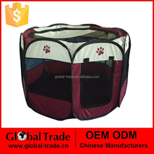 8 Panel Fabric Pet Play Pen Red Blue Pink Dark Green Pet Playpen Small Animal Cages 450077