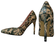2015 The most fascinating high heel shoes Hottest latest design dress shoes Camouflage color fashion high heel rubber shoes