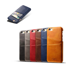 For iphone 7 leather case cover, leather case with card slot for iphone 7 6 leather