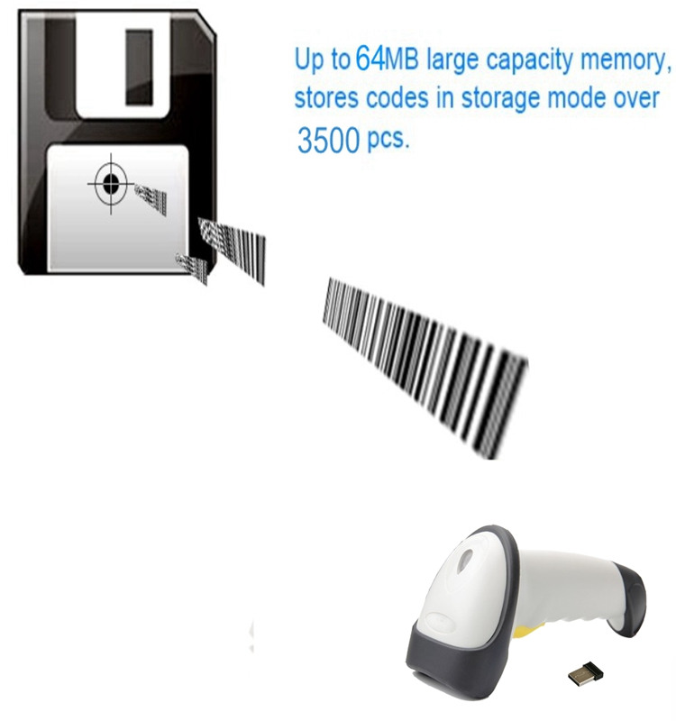 The newest project design CCD wireless cheap barcode scanner for supermarket losgistic warehouse factory X-9201C