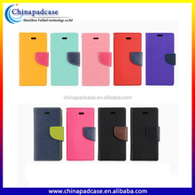 Color Blocking Fashion Looking Flip Stand Wallet Pouch Magnet Phone case for iPhone 7 Accessories