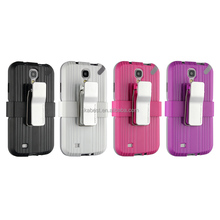 BC-05 armor Back cover case for Samsung S4, Anti-shock Metal Belt Clip Stand Case for galaxy s4