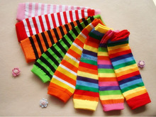 Mixed design wholesale rainbow baby kids leg warmer knitted infant cute cotton leg warmers
