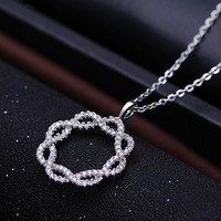 2016 fashion simple design chain flower necklace for women
