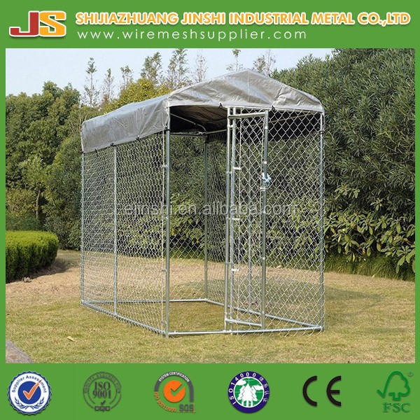 6'H x 5'W x 10'D galvanized Chain Link dog Kennel & dog run & dog fence panel with cover cloth