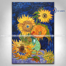 Wholesale High Quality Canvas Handmade Copy Famous Artists Van Gogh Flower Painting