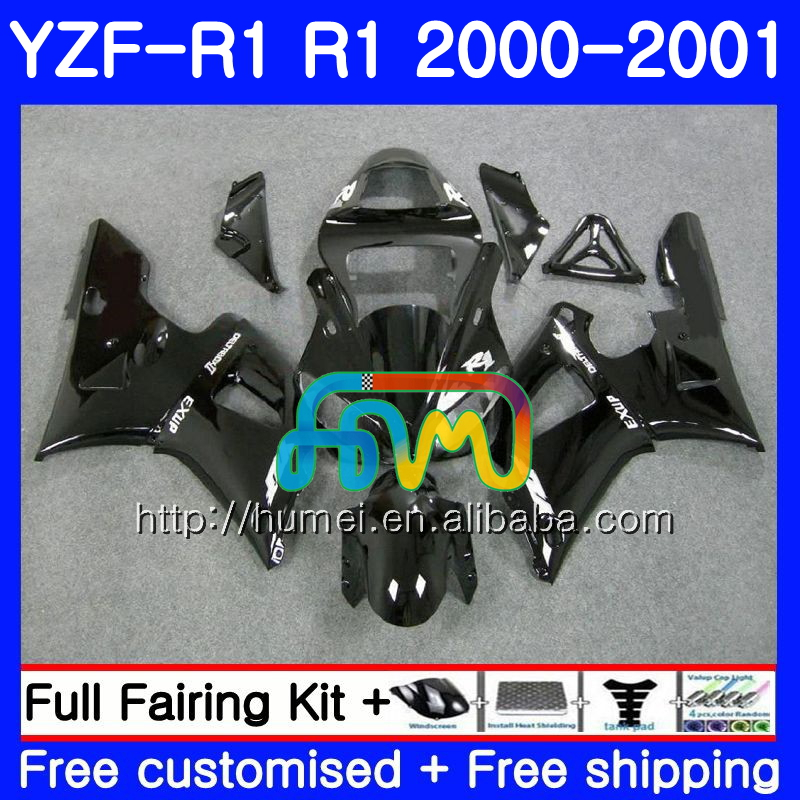 Body For YAMAHA YZF R 1 YZF gloss black 1000 YZF-<strong>R1</strong> <strong>00</strong>-01 Bodywork 98HM1 YZF1000 YZF-1000 YZF <strong>R1</strong> <strong>00</strong> 01 YZFR1 2000 2001 Fairing