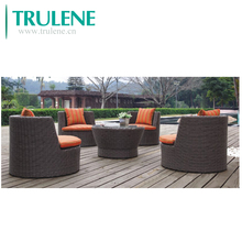 Garden Poly Wicker Rattan Furniture 6 Seater outdoor Dining Setting Table and Chairs