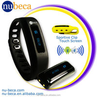 Bluetooth Rechargeable Wristband Activity Monitor Sleep Monitor with Calorie Tracker