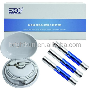 Beautiful smile private logo package home teeth whitening kits carbamide peroxide/non peroxide with led