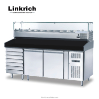 Commercial kitchen restaurant pizza refrigerated work table fridge