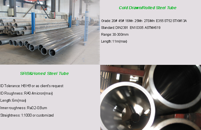 Hydraulic using Precision Seamless Steel 1045 Honed steel pipe