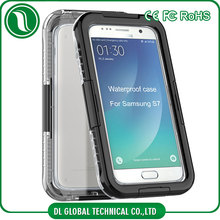 new products 2016 Silicone + PC waterproof phone case for samsung galaxy s7 IP68 waterproof case