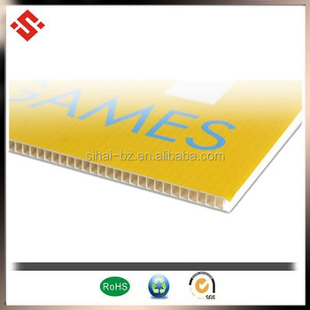 factory price twin wall extruded polypropylene sheet