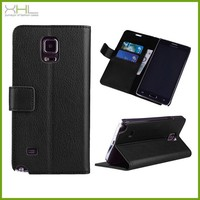 New PU Leather Stand Wallet Card Flip Cover Case For Samsung Galaxy Note 4