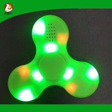 custom glowing led fidget spinner bulk for anti-stress