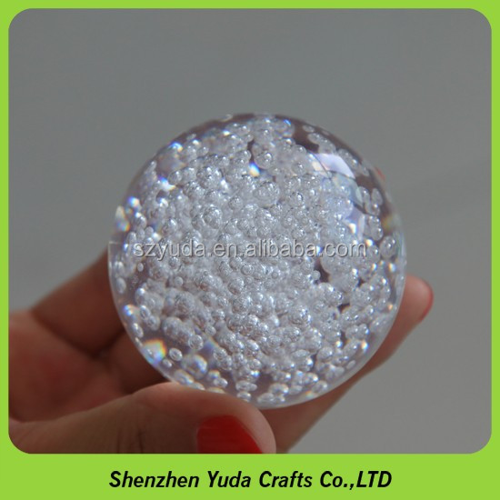 High transparent solid display spheres 80mm clear bubble round acrylic ball