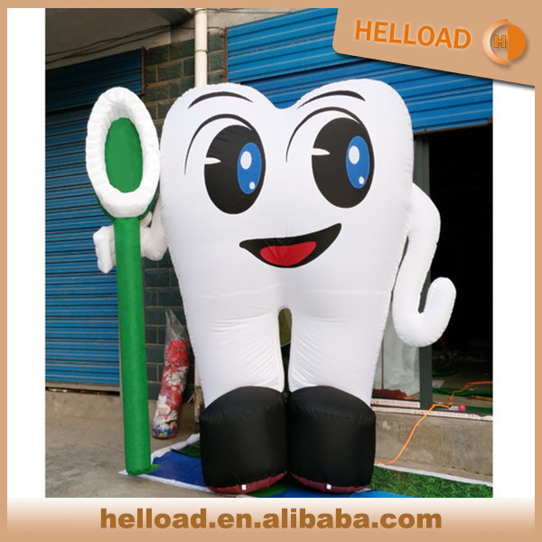 custom made inflatable tooth model for teeth loving day promotion