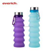 2018 NEW Food Grade Silicone Foldable Squeeze Sports Water Bottle For Travel