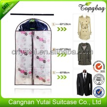 Quality hot selling pvc floral garment bag