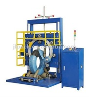 Roll wrap packing machine,Vertical hose coil wrapping machine