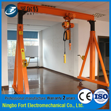 Custom ISO Certification Lightweight Warehouse 2ton Gantry Crane Price
