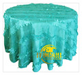 "Fancy tifi Petal Wedding Taffeta Table Cloth 120"" round banquet table cloth"
