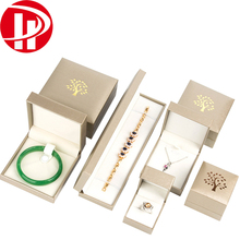 Custom Necklace Bracelet Ring Watch Jewellery Packing Box Velvet Insert Gold Leatherette Paper Gift Packaging Jewelry Box