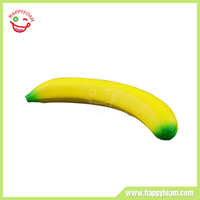 PU Yellow Promotional Customized Banana Anti-stress Ball for Stress Reliever
